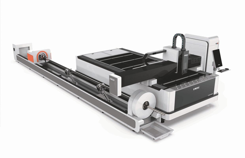 Máy Cắt Kim Loại Fiber Laser Tích Hợp Hai Chức Năng Cắt Tấm Và Ống