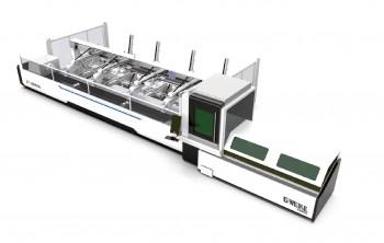 Máy Cắt Ống Kim Loại Fiber Laser Đưa Phôi Tự Động